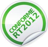 Sticker conforme RT 2012 (détouré) poster