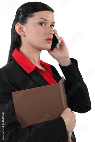 Business professional talking on the phone