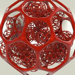 Molecular Sphere - 3D Render