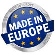 "Button mit Banner ""Made in Europe"""