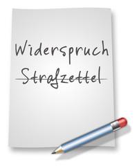 """Papier & Bleistift Illustration """"Widerspruch / Strafzettel"""""""