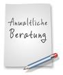 """Papier & Bleistift Illustration """"Anwaltliche Beratung"""""""