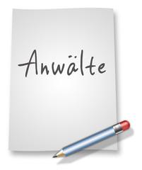 """Papier & Bleistift Illustration """"Anwälte"""""""