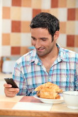 Texting over breakfast