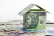House made of polish money credit and construction concept