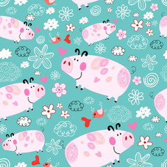 texture of pink pigs
