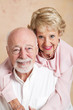 Studio Portrait of Beautiful Senior Couple
