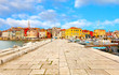 Leinwandbild Motiv old Istrian town in Porec, Croatia.