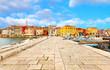 canvas print picture - old Istrian town in Porec, Croatia.