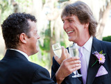 Gay Couple Toast Their Marriage