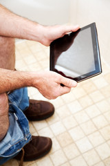 Tablet PC in the Bathroom