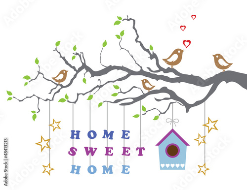 Home sweet home moving-in new house greeting card