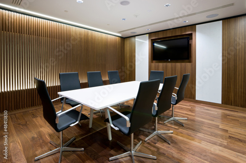 Business meeting room in modern office - 48413830