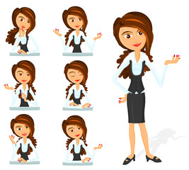 Set of a various woman poses - A