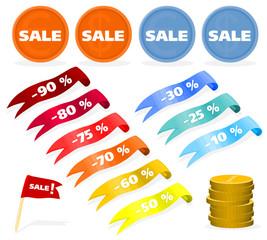 Set of a sales labels - B