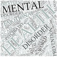 Mental health Disciplines Concept