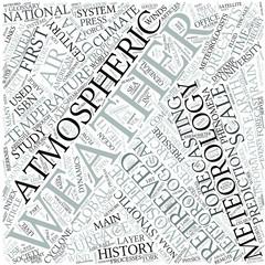 Meteorology Disciplines Concept