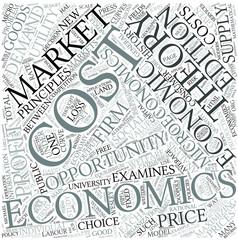 Microeconomics Disciplines Concept