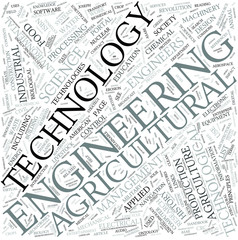 Agricultural engineering Disciplines Concept
