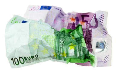 Euroscheine Müll