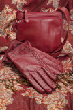 Red Leather Gloves and Purse