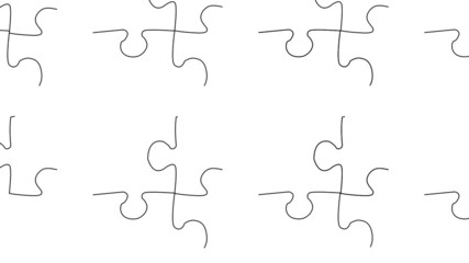Puzzle on white background