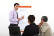 Businessman making a presentation