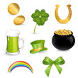 Vector Illustration of Saint Patrick's Day Symbols