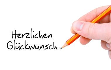 Herzlichen Glückwunsch / Handschrift