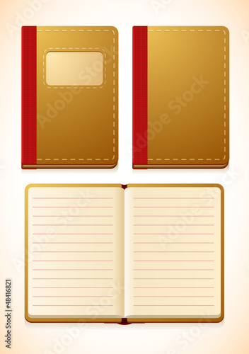 Vector notebook with lines