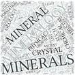Mineralogy Disciplines Concept
