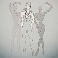 Fashion sketches / Woman silhouettes