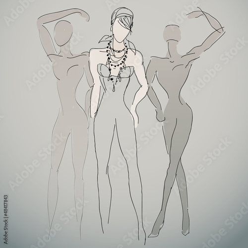 Fashion sketches / Woman silhouettes