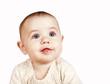 Open smiling baby portrait