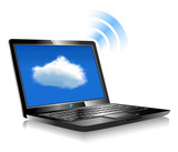 Laptop Cloud Connection wifi digital