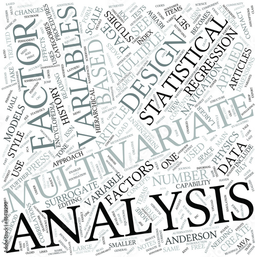 Multivariate analysis Disciplines Concept
