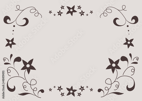 Frame with floral Ornaments in brown