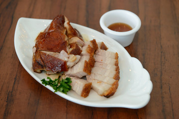 Roasted pork and duck
