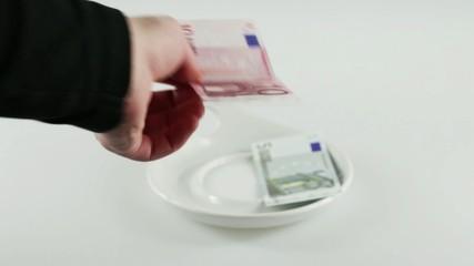 Euroscheine Bezahlung