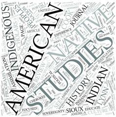 Native American studies Disciplines Concept