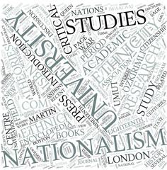 Nationalism studies Disciplines Concept