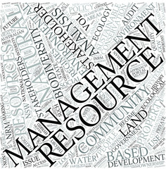 Natural resource management Disciplines Concept