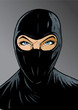 Intense Ninja girl, thief or special forces.