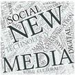 New media Disciplines Concept