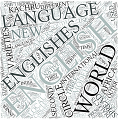New Englishes Disciplines Concept
