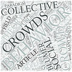 Collective behavior Disciplines Concept