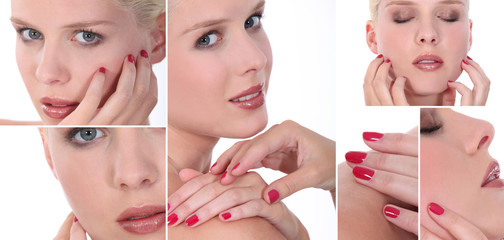 Montage of a woman with a manicure