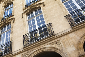 Immobilier, luxe, bordeaux, immeuble, pierre, façade