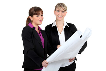 Businesswomen with plans