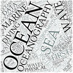 Oceanography Disciplines Concept